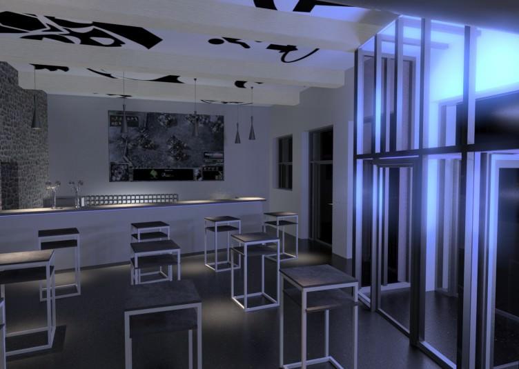 Image du projet de bar à jeux vidéo réalisé par Quentin