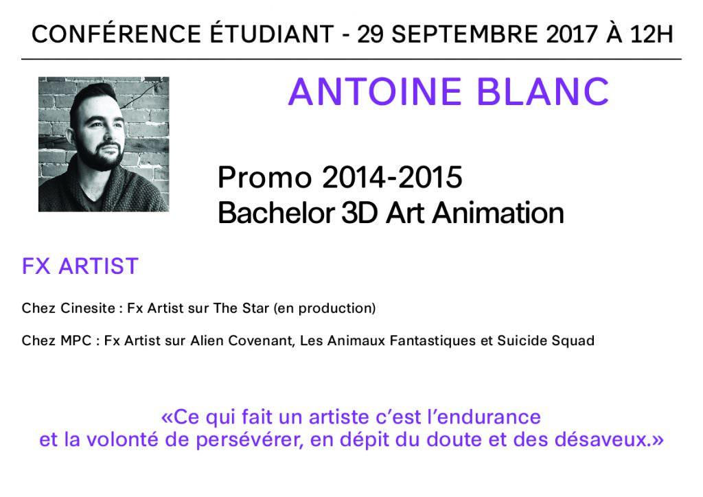 Conférence à Bellecour Ecole - Antoine Blanc
