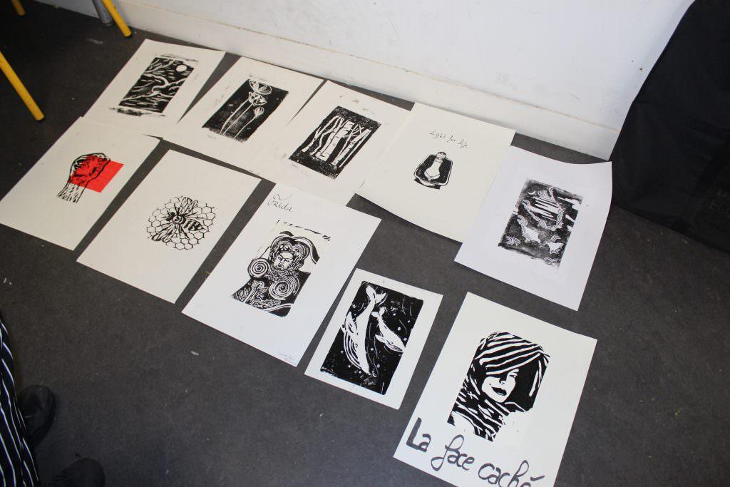 Linogravure - expression plastique - Bellecour école