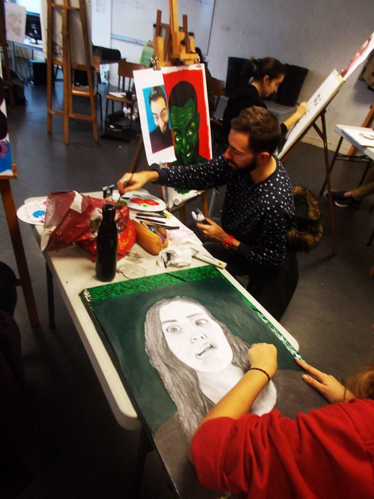 Autoportrait Bellecour école 2D Diane Grégoire