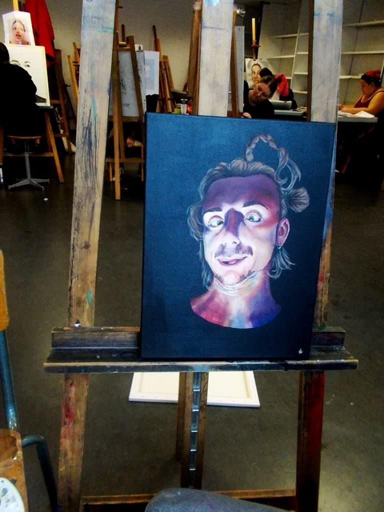 Autoportrait Bellecour école 2D Hughes