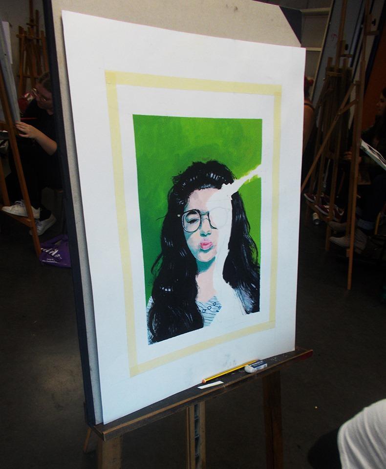 Autoportrait Bellecour école 2D Mathilde