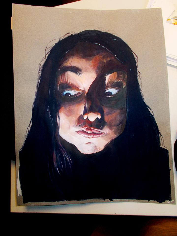 Autoportrait Bellecour école 2D Ophélie