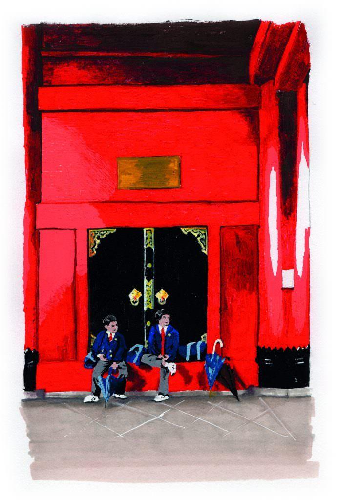 exposition - Illustration goo loves Japan - Bellecour école