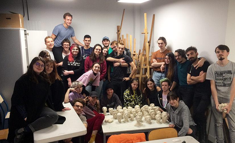 Equipe modelage Concept art Bellecour école